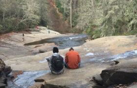 young men enjoying outdoors